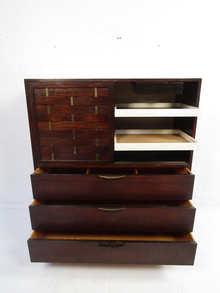 20th Century Mid-Century Modern High Dresser Designed by Harvey Probber For Sale