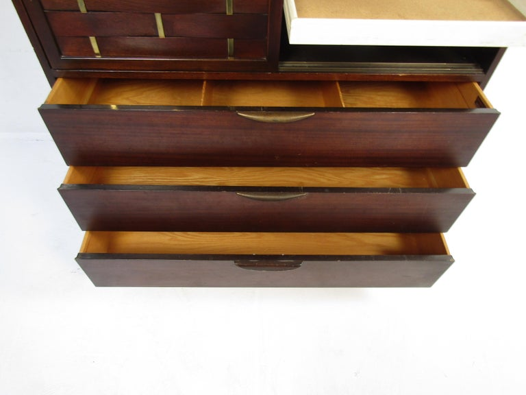 Mid-Century Modern High Dresser Designed by Harvey Probber For Sale 1