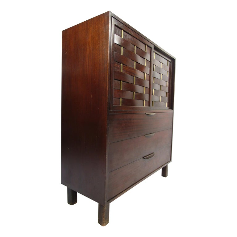 Mid-Century Modern High Dresser Designed by Harvey Probber For Sale
