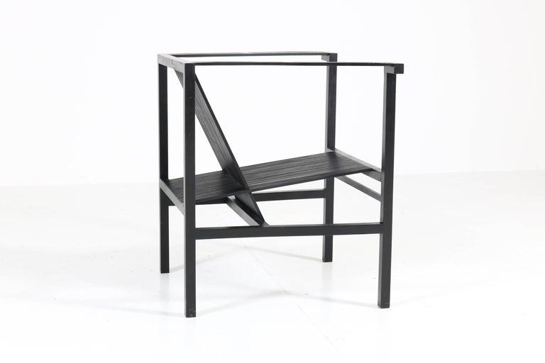 Mid-Century Modern High Slat Armchair by Ruud-Jan Kokke for Metaform, 1984 For Sale 3