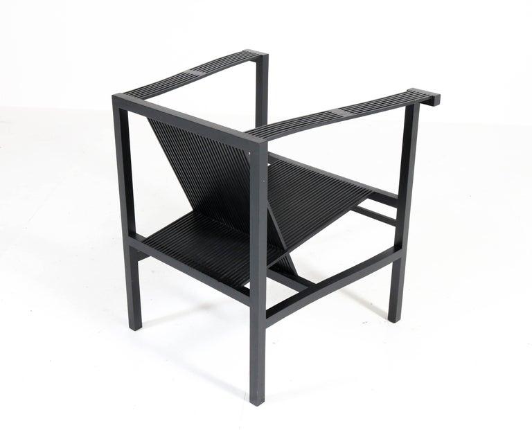 Mid-Century Modern High Slat Armchair by Ruud-Jan Kokke for Metaform, 1984 For Sale 4