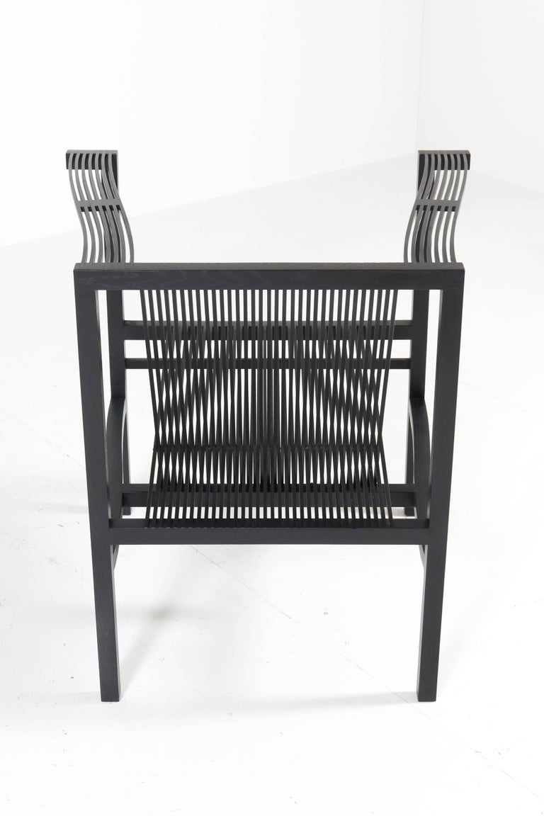 Mid-Century Modern High Slat Armchair by Ruud-Jan Kokke for Metaform, 1984 For Sale 6
