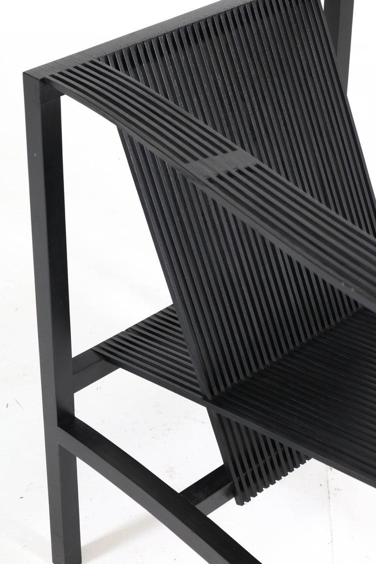 Beech Mid-Century Modern High Slat Armchair by Ruud-Jan Kokke for Metaform, 1984 For Sale