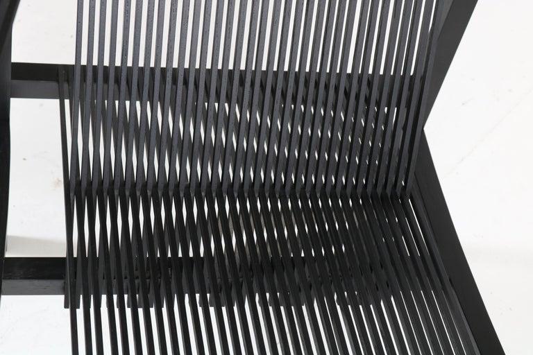 Mid-Century Modern High Slat Armchair by Ruud-Jan Kokke for Metaform, 1984 For Sale 2