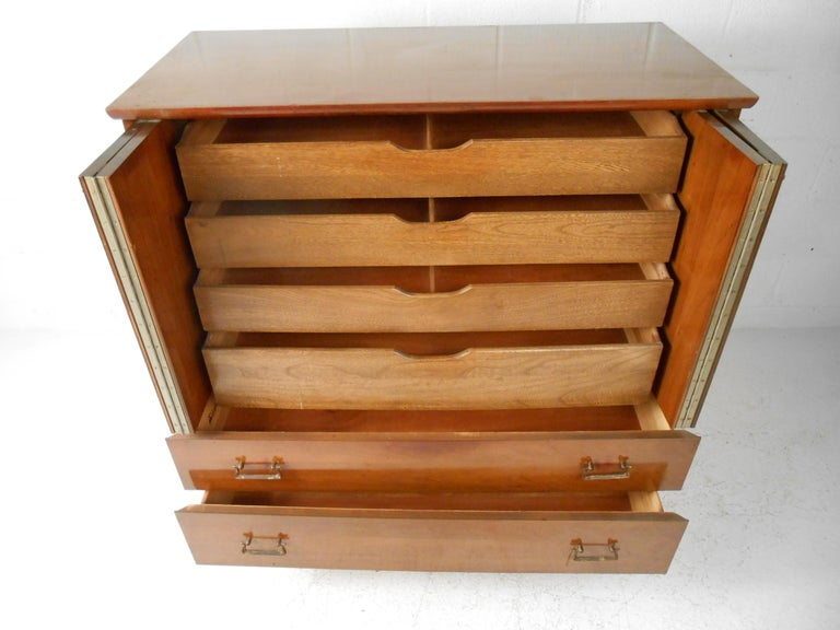 American Mid-Century Modern Highboy Dresser by Mengel Furniture Co. For Sale