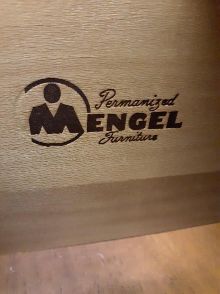 Wood Mid-Century Modern Highboy Dresser by Mengel Furniture Co. For Sale