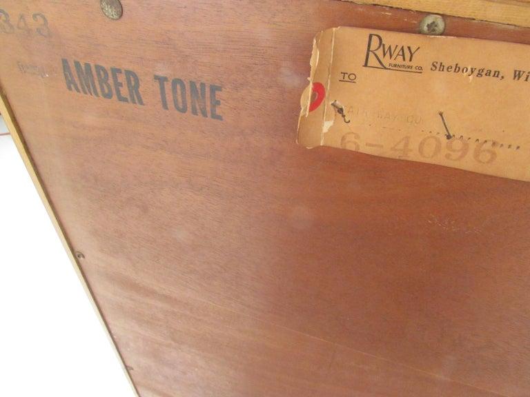 Mid-Century Modern Highboy Dresser by R-Way For Sale 5