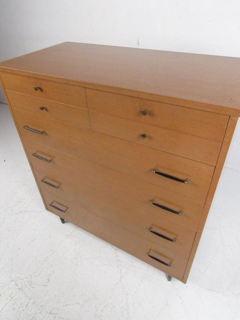 Late 20th Century Mid-Century Modern Highboy Dresser by R-Way For Sale