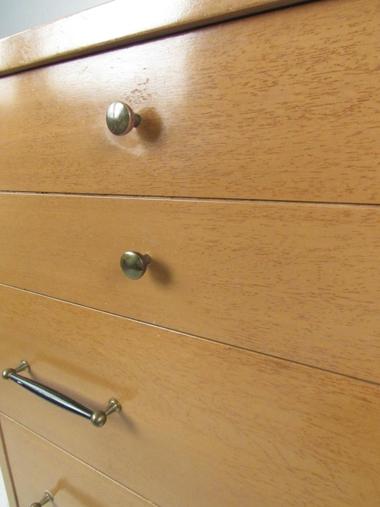 Mid-Century Modern Highboy Dresser by R-Way For Sale 1