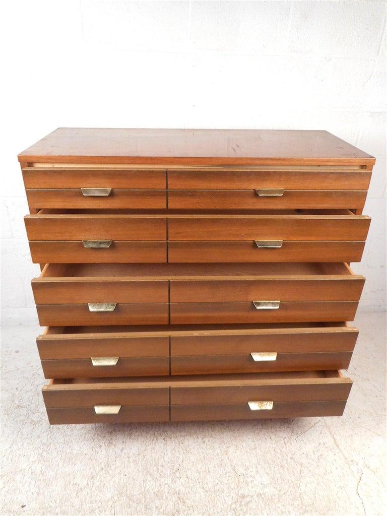Veneer Mid-Century Modern Highboy Dresser For Sale