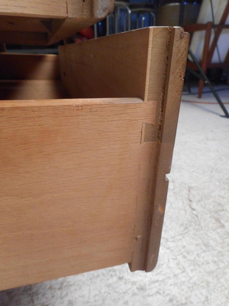 Walnut Mid-Century Modern Highboy Dresser For Sale
