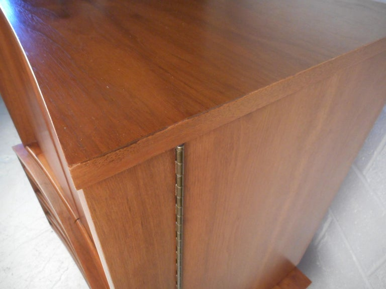 Mid-Century Modern Highboy Dresser with Curved Drawer-Fronts 5