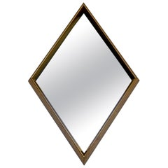 Mid-Century Modern Hollywood Regency Gold Gilt Wall Mirror La Barge Diamond