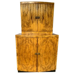 Mid-Century Modern Hollywood Regency Liquer Cabinet, French, circa 1930