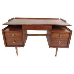 Mid-Century Modern Hooker Style Walnut Desk