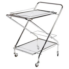 Mid-Century Modern Hungarian Metal Serving Cart