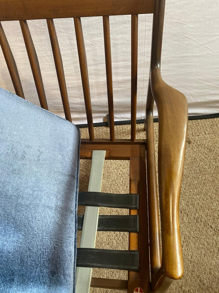 Mid-Century Modern Ib Kofod Larson Selig Arm Lounge Chairs, Pair, Danish Label For Sale 6
