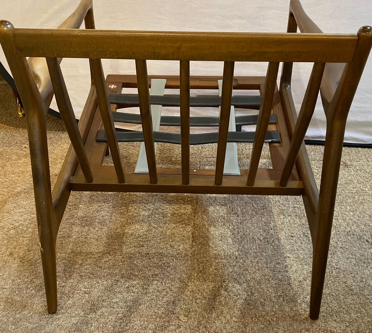 Mid-Century Modern Ib Kofod Larson Selig Arm Lounge Chairs, Pair, Danish Label For Sale 2