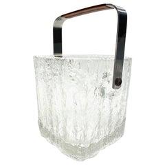 Mid-Century Modern Ice Bucket with Textured Ice Glass, Japan, circa 1960s