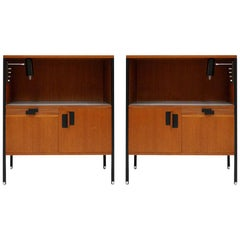Mid-Century Modern Ico Parisi Edited by Mim Pair of Italian Bedside Tables