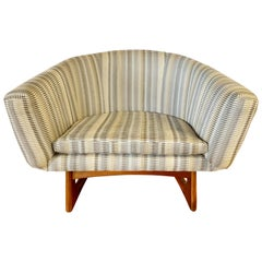 Mid-Century Modern Iconic Adrian Pearsall Lounge Chair with New Upholstery