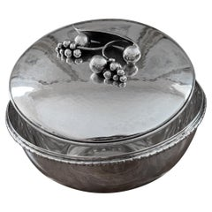 Mid-Century Modern Iconic Carl Pol Petersen Sterling Silver Covered Bowl