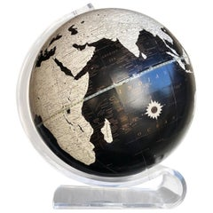 Mid-Century Modern Imperial World Globe on Lucite Stand by George F. Cram, 1970s