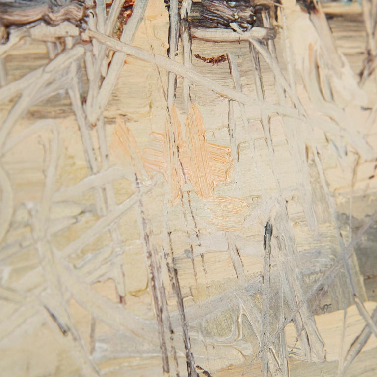 Mid-Century Modern Impressionist Painting, circa 1970 In Good Condition In Toronto, ON