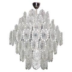 Mid-Century Modern Impressive Crystal Glass European Chandelier