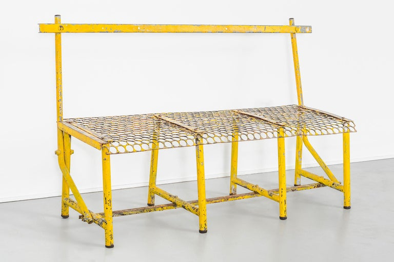 French Mid-Century Modern Industrial Bench For Sale