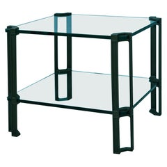 Mid-Century Modern Industrial Style Clamped Glass 'T24' Table