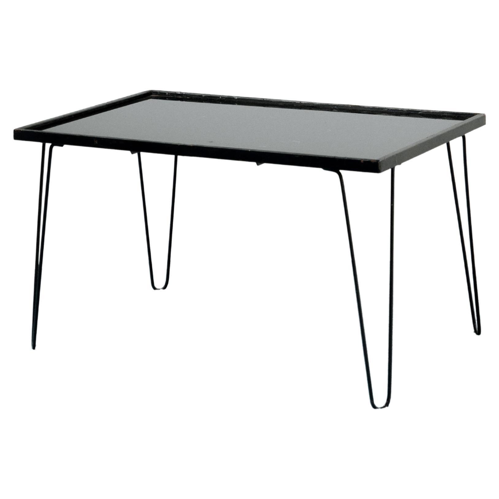Mid-Century Modern Iron Coffee Table