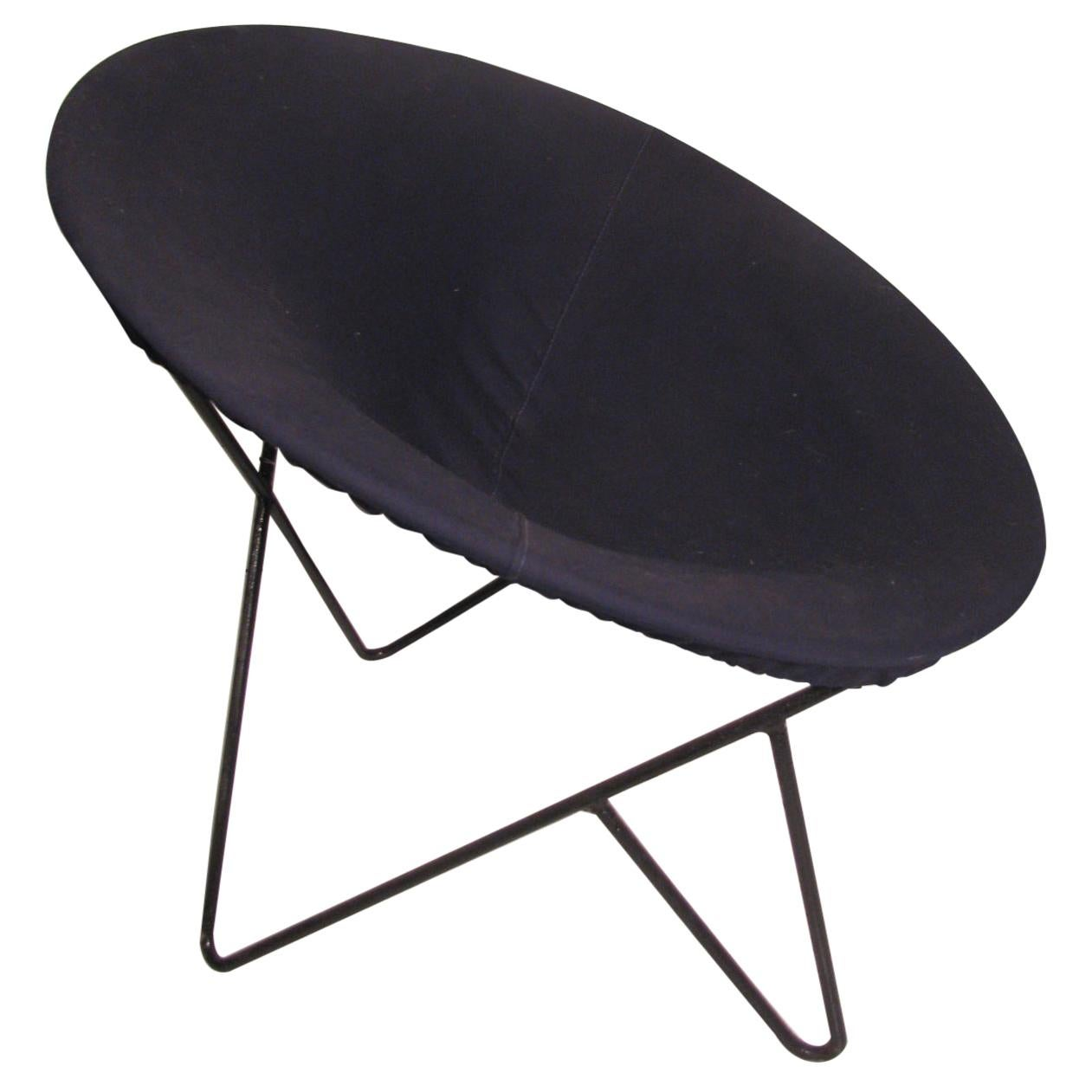 Mid-Century Modern Iron Hoop Lounge Chair, circa 1955