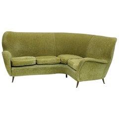Mid-Century Modern Italian 1950s Era circa 1955 I.S.A Corner Sofa Couch