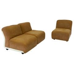 Mid-Century Modern Italian Amanta Chairs Mod.24 by Mario Bellini, 1970s