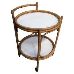 Mid-Century Modern Italian Bamboo Bar Cart, 1960s