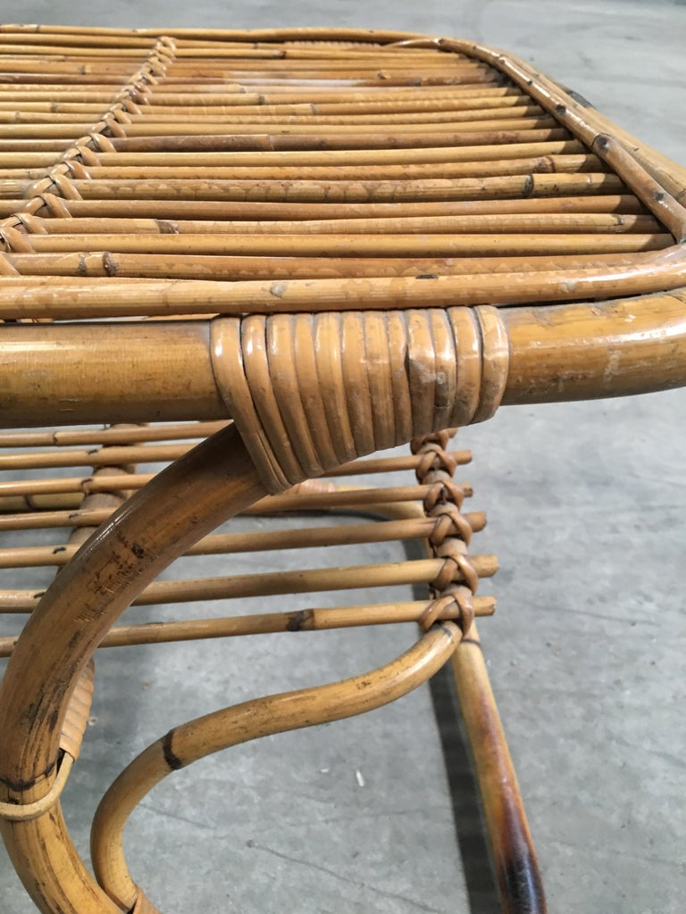 Mid-Century Modern Italian Bamboo Coffee or Side Table, 1960s For Sale 3