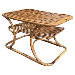 Mid-Century Modern Italian Bamboo Coffee or Side Table, 1960s