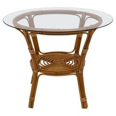 Mid-Century Modern Italian Bamboo Coffee Table, 1950s