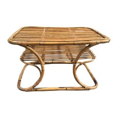 Mid-Century Modern Italian Bamboo Coffee Table by Tito Agnoli for Bonacina, 1950