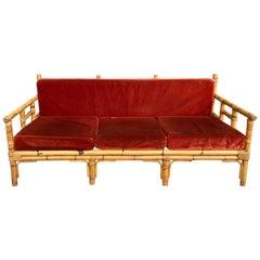 Mid-Century Modern Italian Bamboo Sofa by Vivai del Sud, 1970s