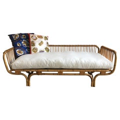 Mid-Century Modern Italian Bamboo Sofa or Day Bed, 1970s