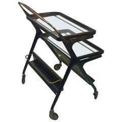 Mid-Century Modern Italian Bar Cart by Cesare Lacca