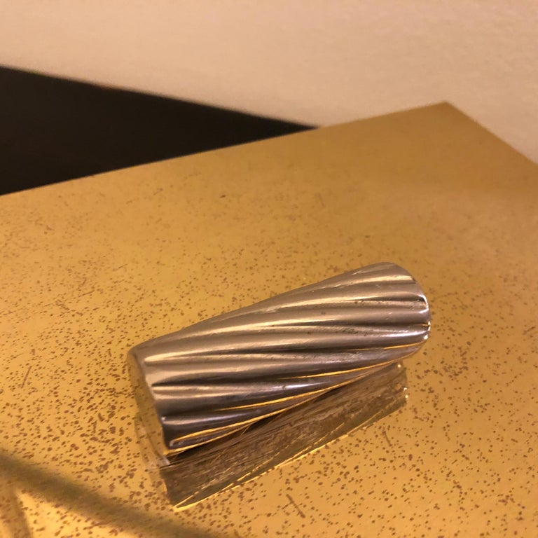 Mid-Century Modern Italian Brass and Silver Plated Vanity Box, 1970 For Sale 3