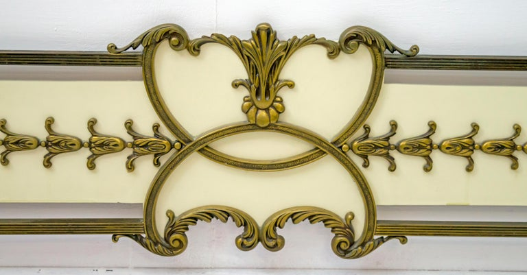 Mid-20th Century Mid-Century Modern Italian Brass Bed, 1960s For Sale