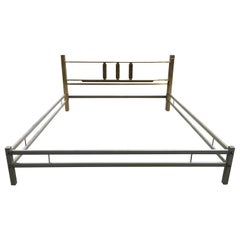 Mid-Century Modern Italian Bronze Double Bed by Luciano Frigerio, 1970s