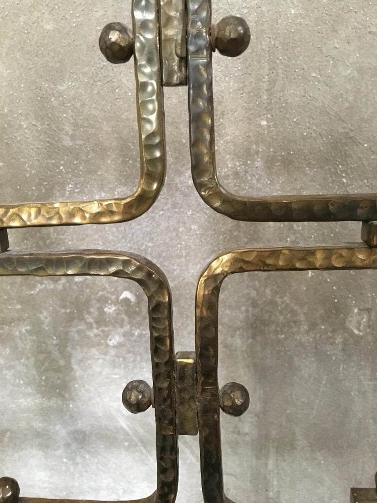 Mid-Century Modern Italian Burnished Brass Double Bed by Pomodoro and Borsani For Sale 7