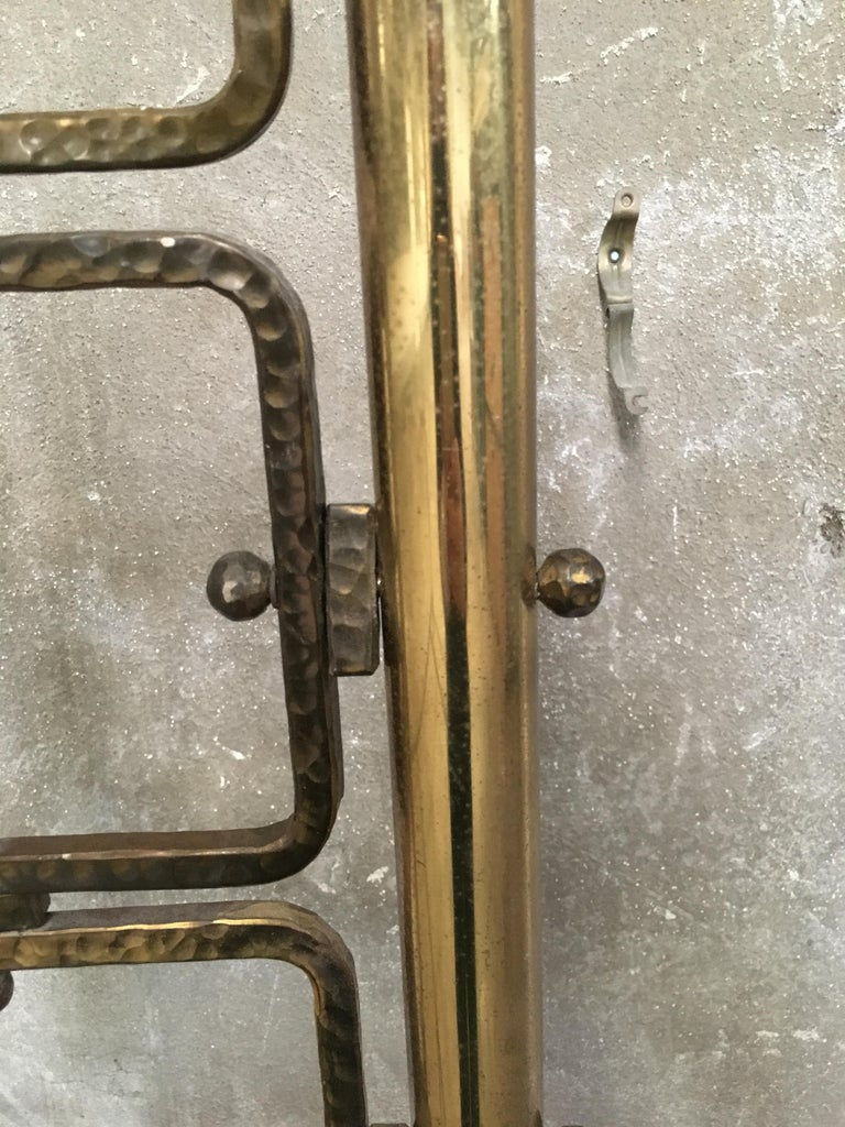 Mid-Century Modern Italian Burnished Brass Double Bed by Pomodoro and Borsani For Sale 8