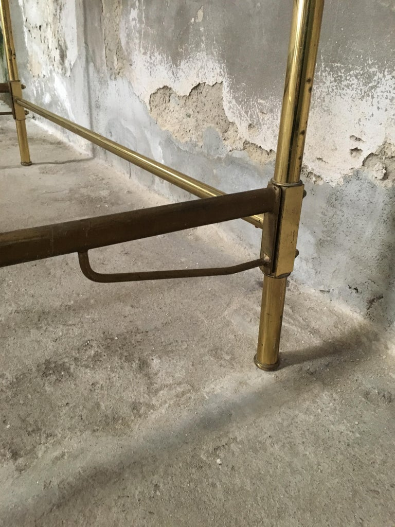 Mid-Century Modern Italian Burnished Brass Double Bed by Pomodoro and Borsani For Sale 9