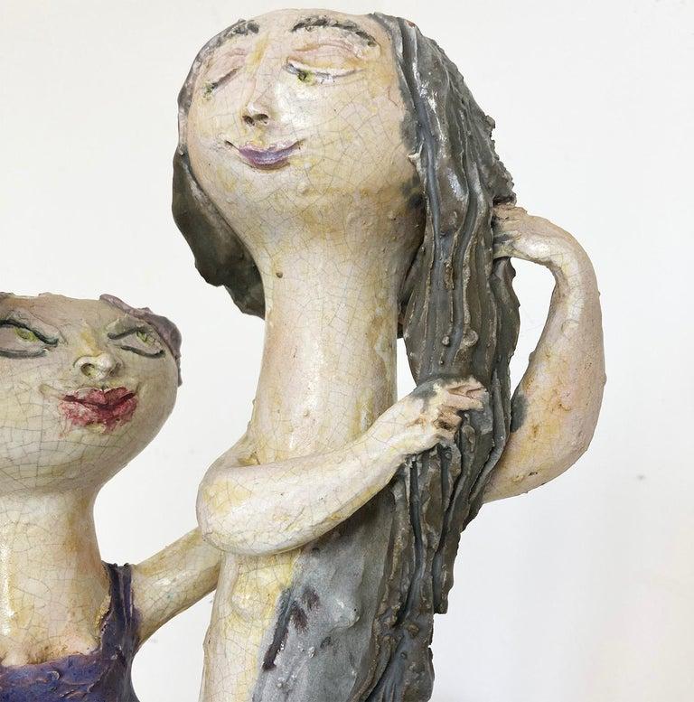 """Mid-Century Modern Italian Ceramic """"Tre Donne"""" by Renato Bassoli, Mlano 1960s In Good Condition For Sale In Milano, IT"""